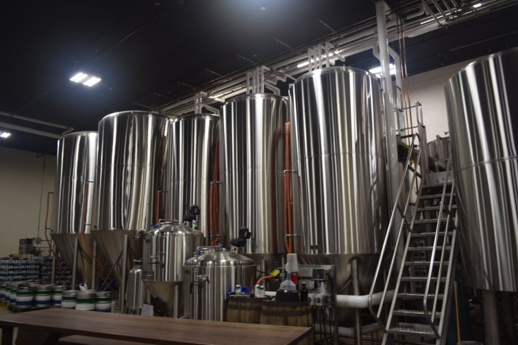 The large brewhouse