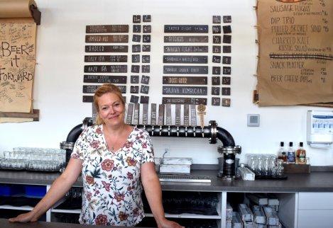 Owner Susi Foerg at Rustic Reel Brewing