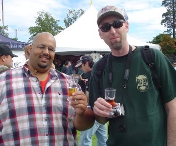 Colin & Warren, Vancouver beer men at GCBF 2006