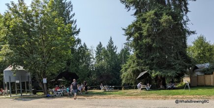 The outdoor picnic area