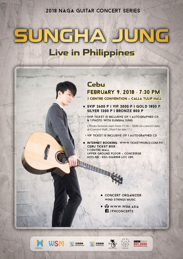 sungha jung live in philippines 2018 - cebu - what's happening