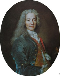 Portrait of a man in 17th century dress with a long white powdered wig