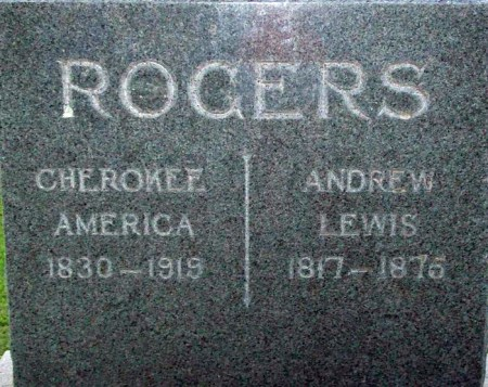 Gravestone of Cherokee America Rogers