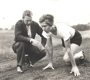 Helen Stephens and Coach Moore