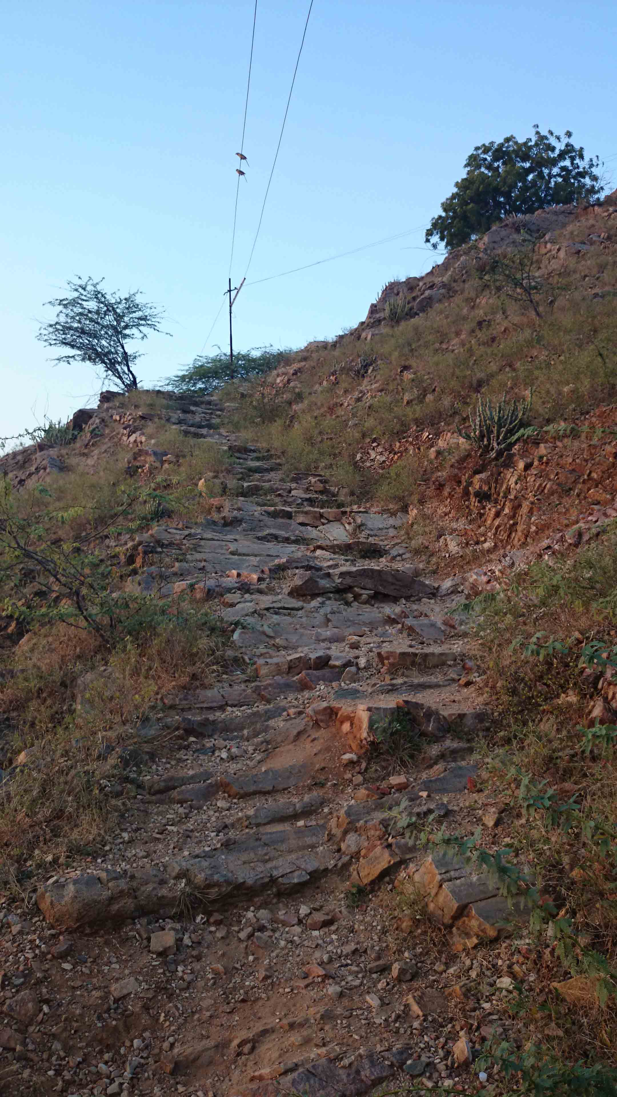 "The ""Goat track"" to Sunset Temple"