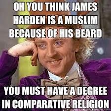 beard equals religion, huh