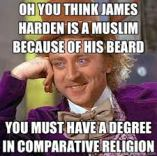beard equals religion, huh