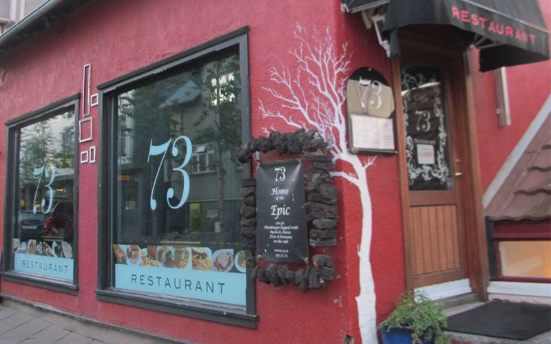 73 Restaurant - Food Reykjavik, Iceland.