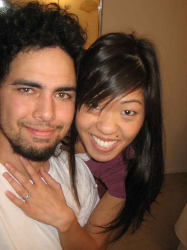 Flashback to when we got engaged on January 17th (or 18th? haha), 2008!