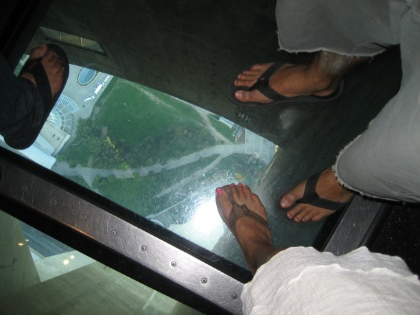 The glass floor...scary!!