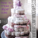 :: How to Make a Diaper Cake ::