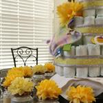 :: Gray and Yellow Themed Baby Shower ::