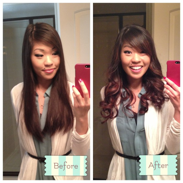 Before and After: Front curled