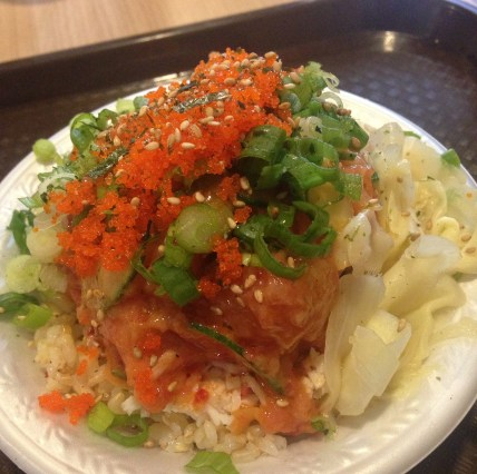 Poke bowl from Pokinometry in Anaheim with a dear friend. Drool.
