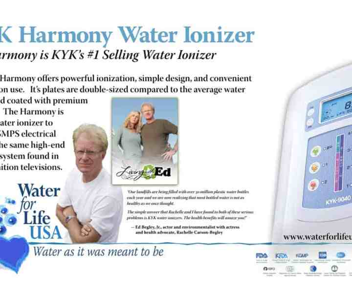 Banner design for water filter and ionizer