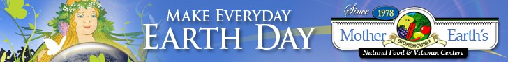 Web banner design for Earth Day