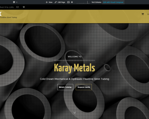 Precision Tubing Distributor Website Design