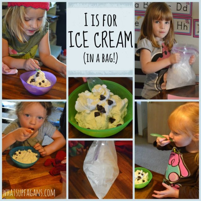 Preschool Lesson Plan: I is for Ice Cream. Recipe for Ice Cream in a Bag.