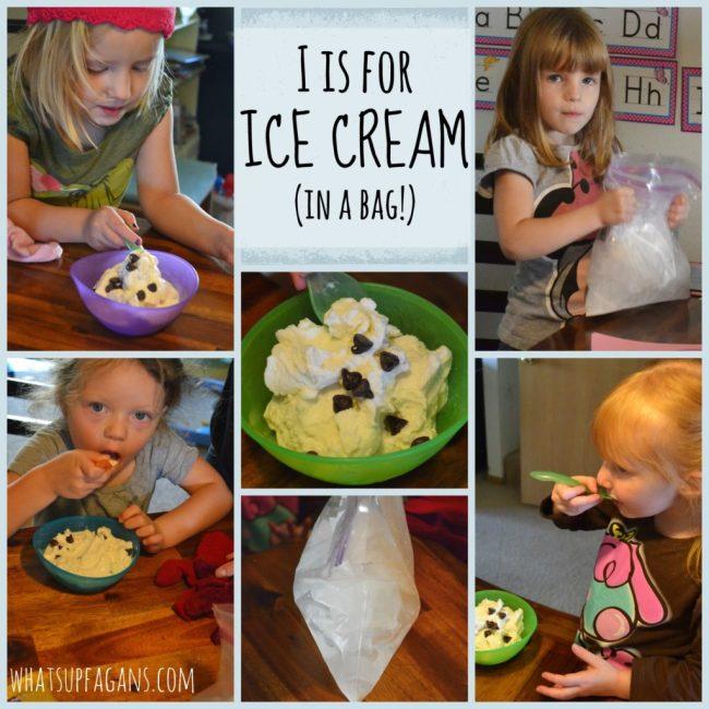 Preschool Lesson Plan: I is for Ice Cream. Recipe for Ice Cream in a Bag.