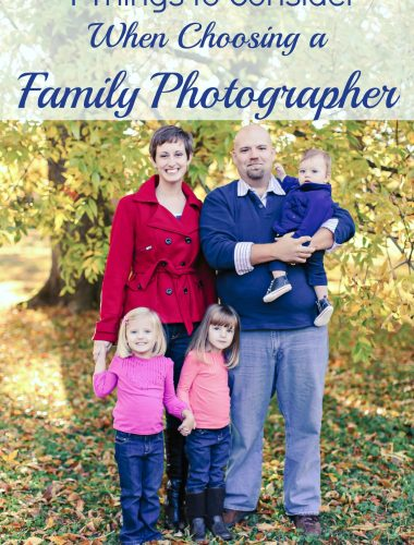 4 Things to Consider When Choosing a Family Photographer - Cost, Quality, Prints or Images,