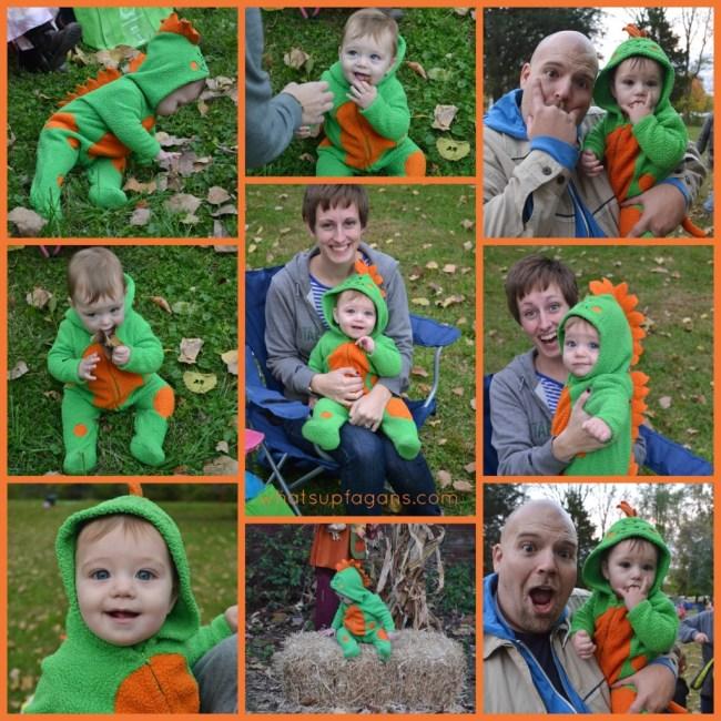 Dinosaur Halloween Costume Collage