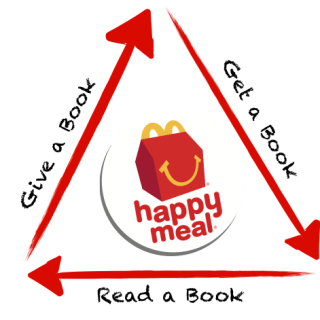 "McDonald's of Central Indiana ""Give a Book, Get a Book"" new campaign!"