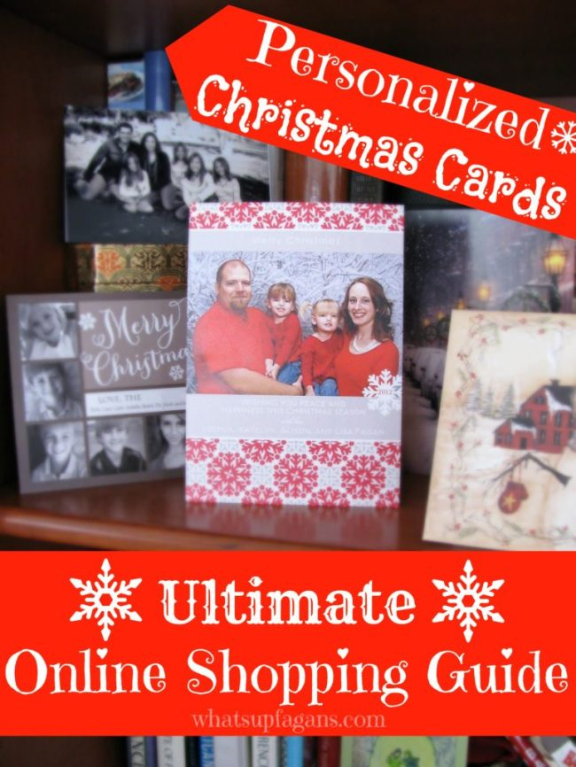 Personalized Christmas Cards: Online Shopping Guide. Quickly and easily find out which online Holiday card retailers offer what and for how much! Even includes an easy to read spreadsheet!