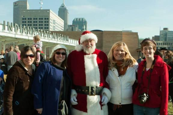 Celebration Crossing with Santa
