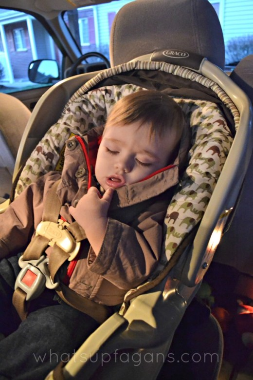 Shopping Baby asleep