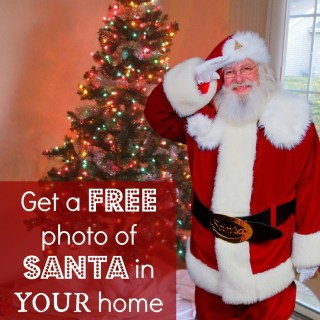 Get a FREE photo of Santa in your home now through December 10!