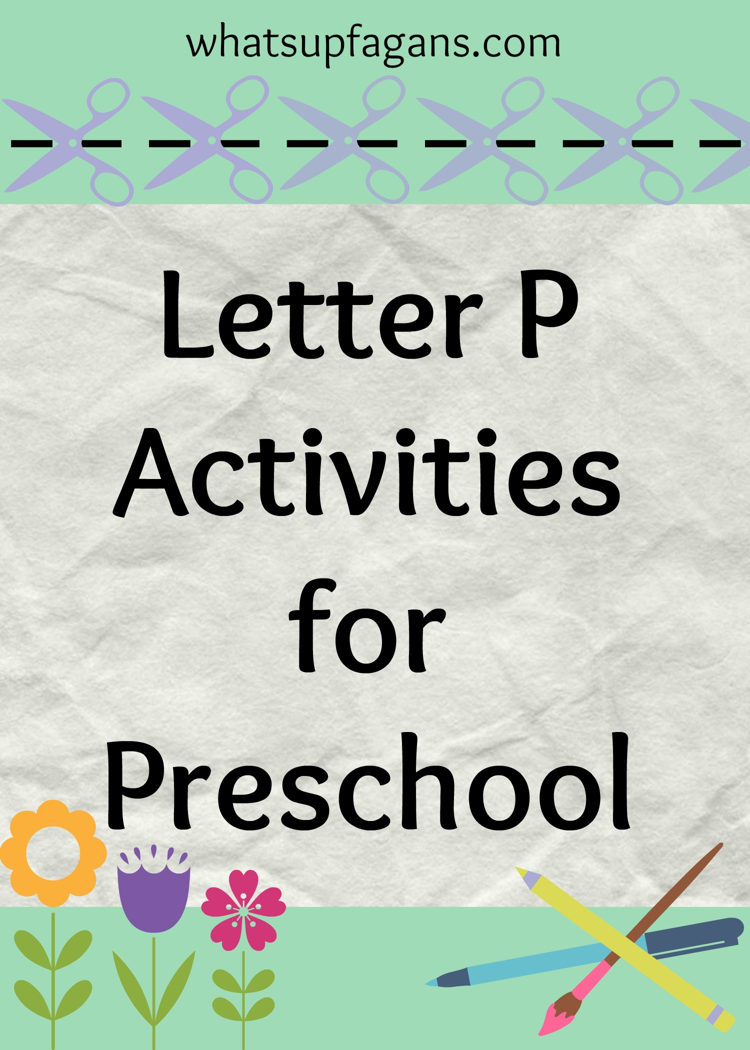 Letter P Activities For Preschool
