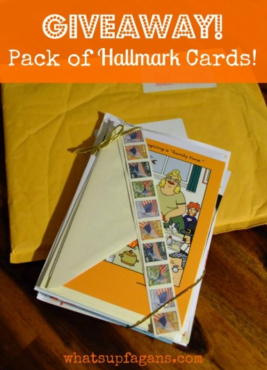 Hallmark Cards Giveaway! Win a 10-Pack and send someone a personal note in the mail! Ends 1/27/14 whatsupfagans.com