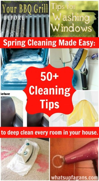 50+ Cleaning Tips and Tricks to deep clean every room in your home! This is an awesome list to help with spring cleaning! | whatsupfagans.com