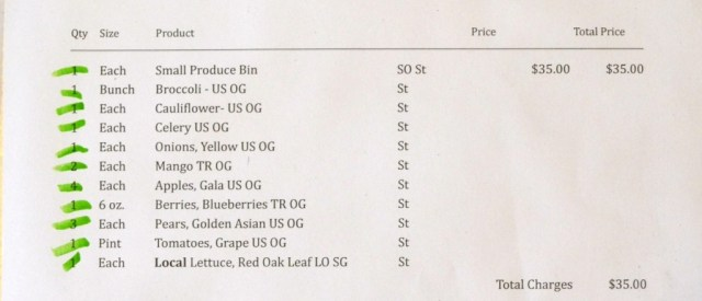 Green Bean Delivery Invoice