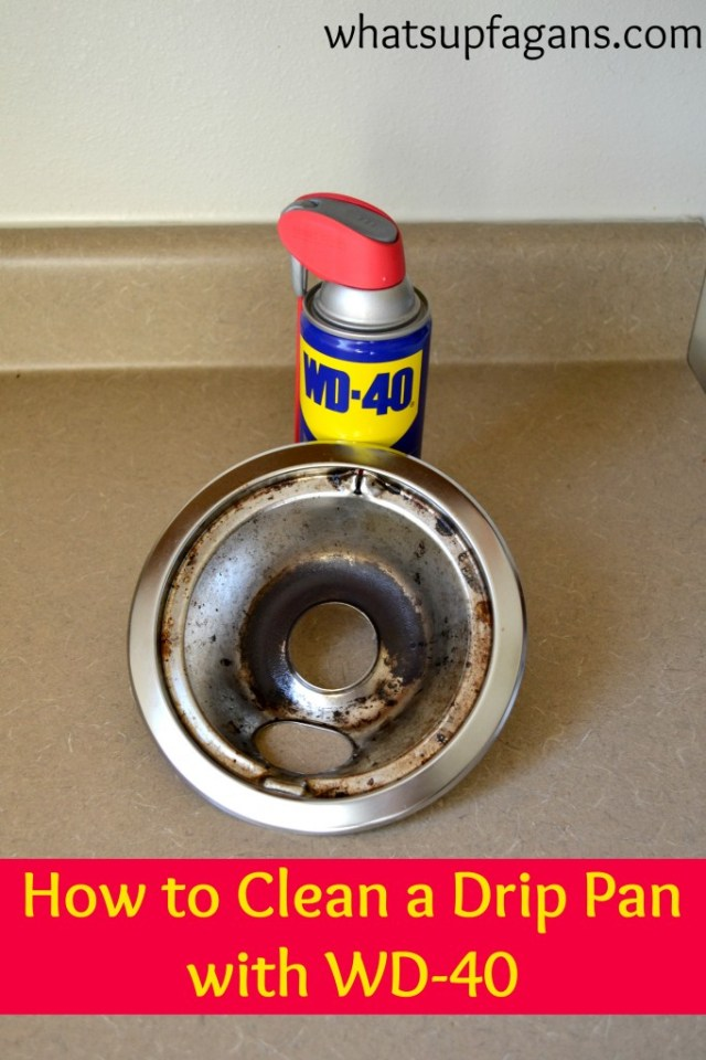 How to clean a drip pan with WD-40