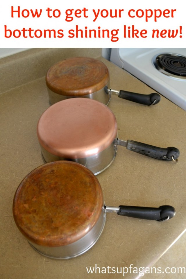 How to get copper pots bottoms shining like new