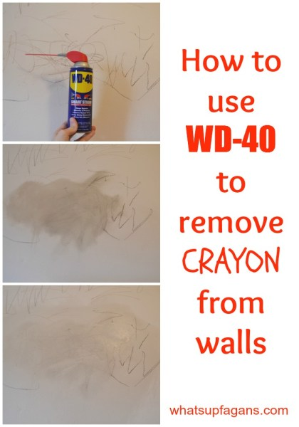 How to use WD-40 to remove crayon from walls