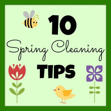 SpringCleaningTips- Girl in the Garage