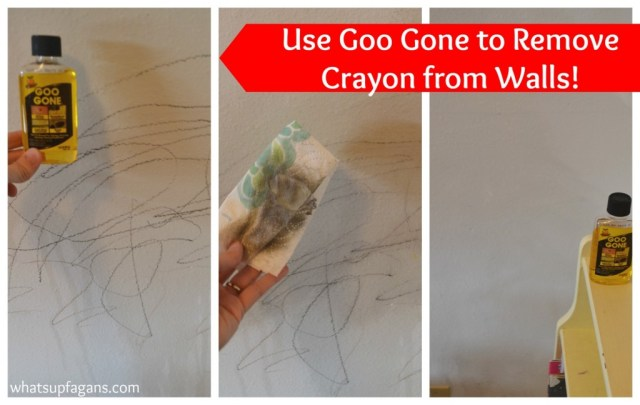 remove crayon from walls with goo gone