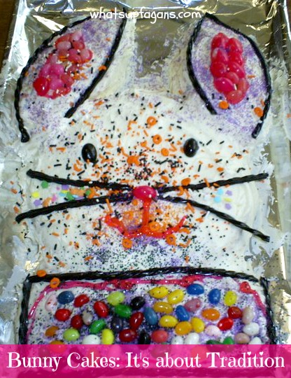 Easter bunny cakes aren't about perfection, they are about tradition.   whatsupfagans.com
