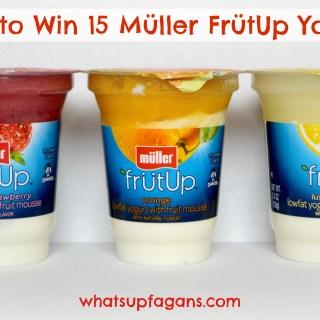 Yum! Müller FrütUp yogurt Summer Pack! Three different flavors. I hope I win!