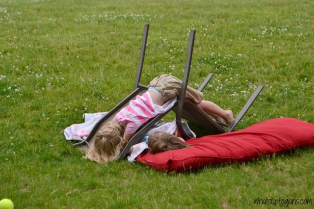 Twins outdoor play