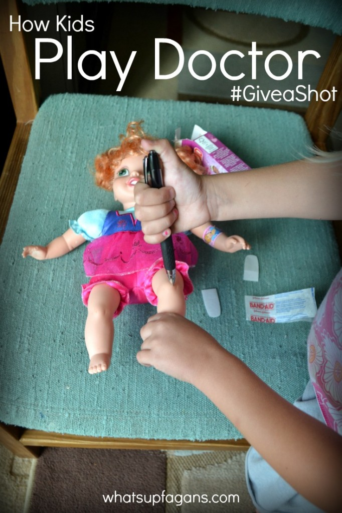 Here's a simple way for kids to play doctor! And how you can too. #GiveaShot #shop #cbias