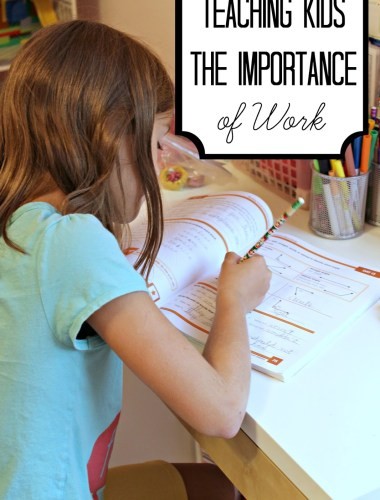 Instilling Values in our Kids - How to Teach kids the importance of work even when they're young.