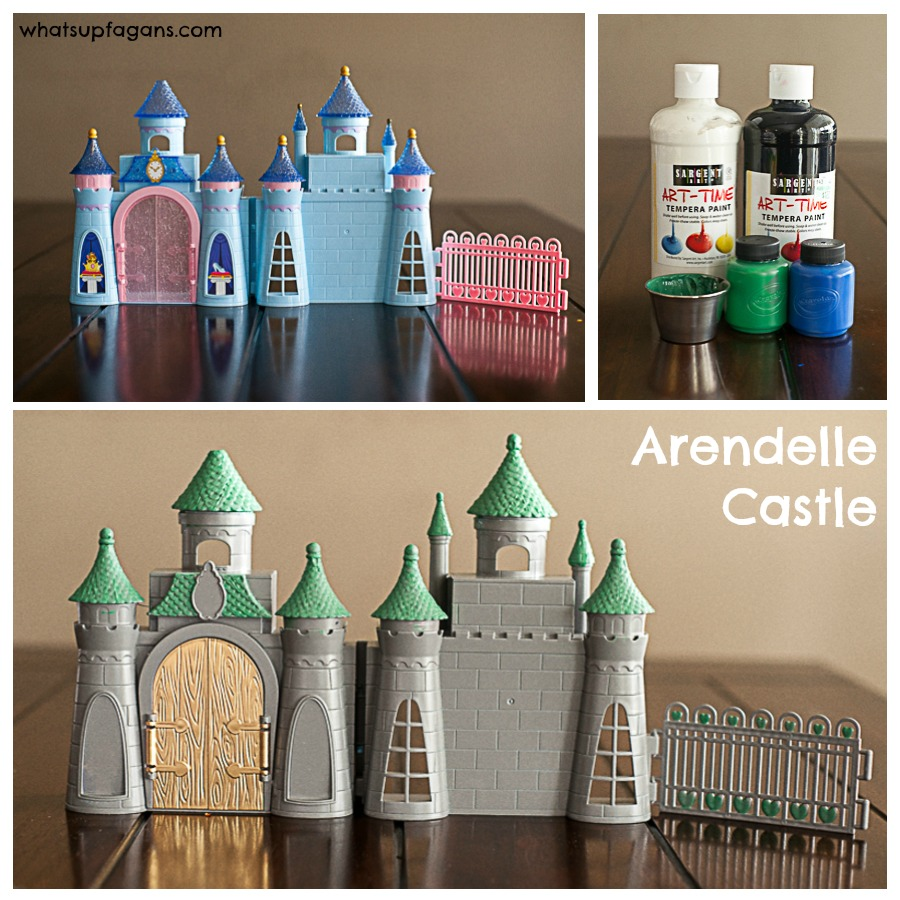 Awesome way to make a FROZEN playset Arendelle Castle.