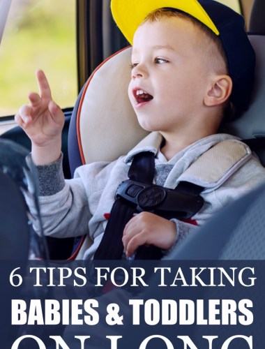 Great parenting tips for people traveling with young kids! These 6 simple tips work on long road trips with toddler and babies on board! And they're so simple.