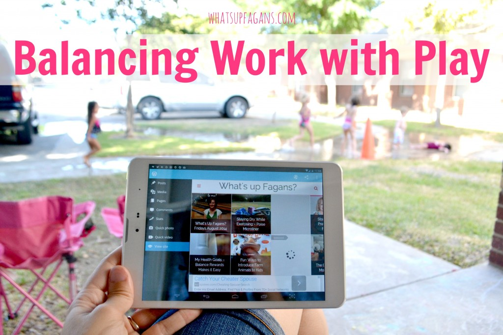 A great way to better balance work with play is by getting a connected free data tablet that can work wherever you and the kids may want to be. #TabletTrio #shop #cbias