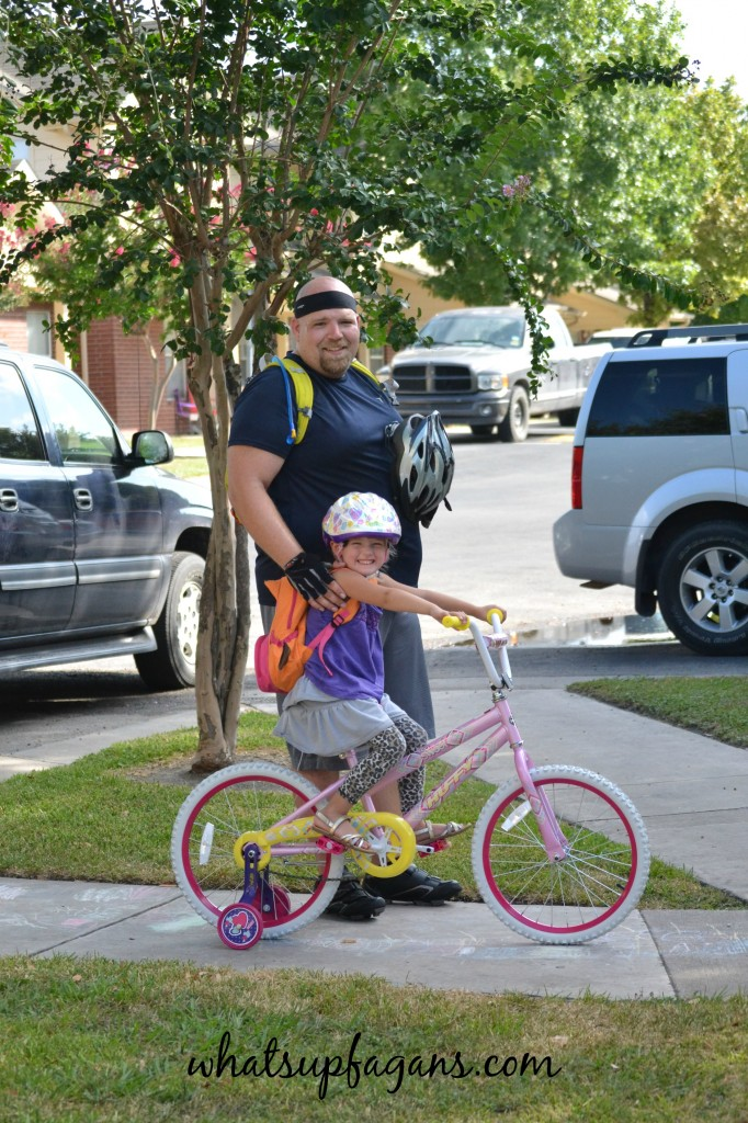 Father and Daughter Bike