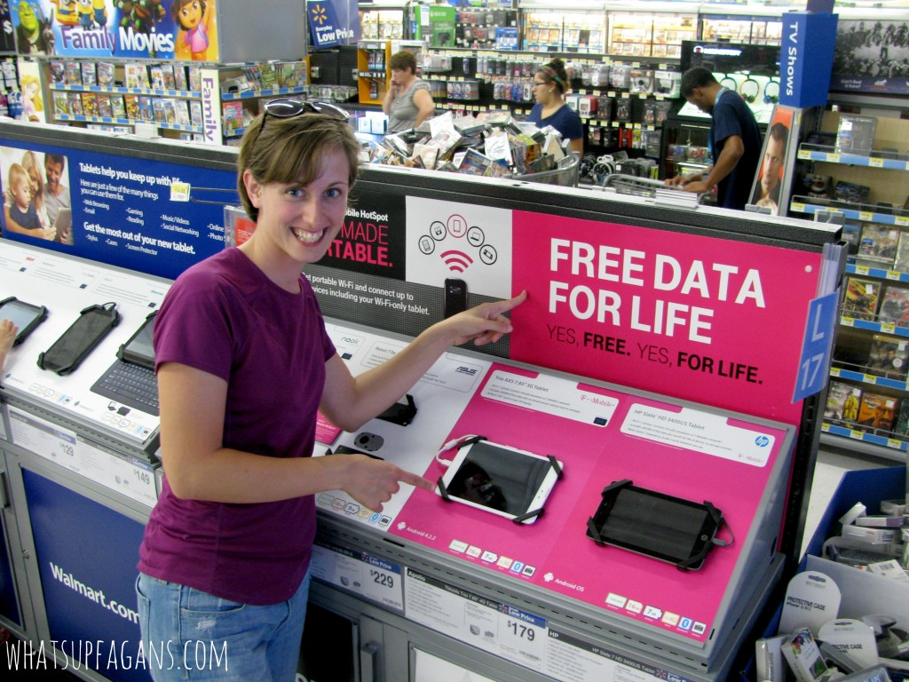 Grab a T-Mobile Trio AXS 4G for only $179 at Walmart and get FREE data for life! Such an awesome free data tablet! #TabletTrio #cbias #shop