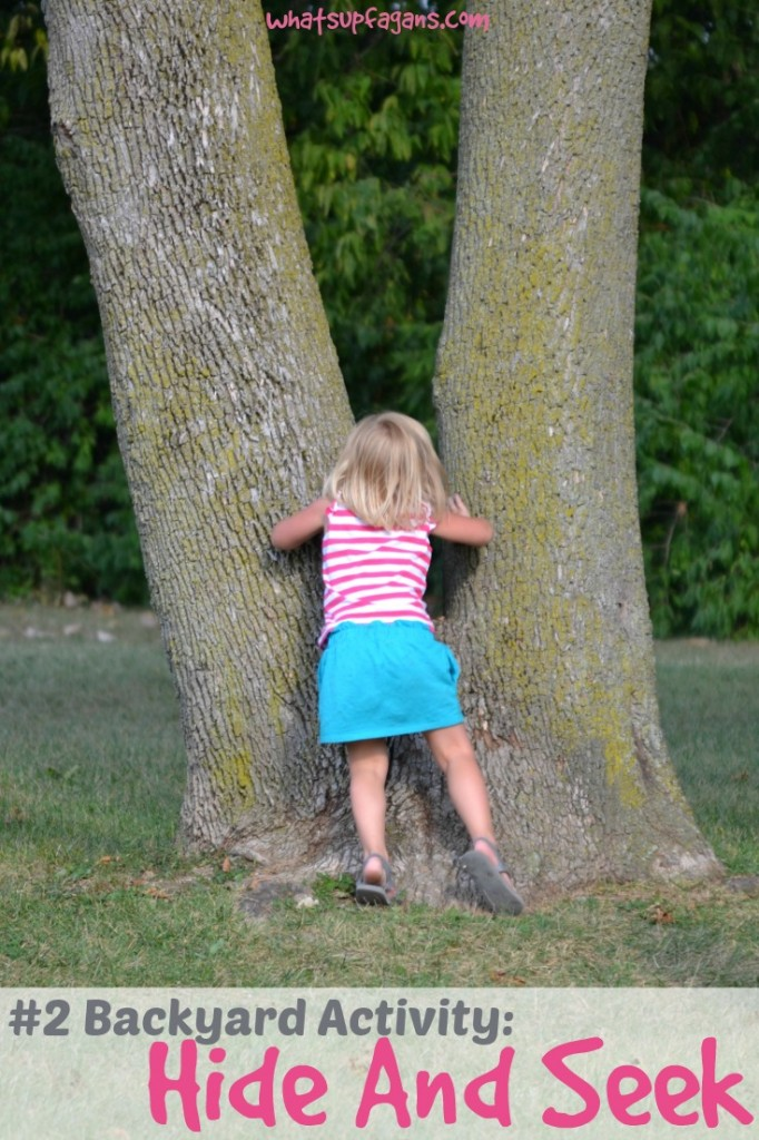 Hide and Go Seek is my kids #2 favorite backyard activity for sure! #StuntHunt